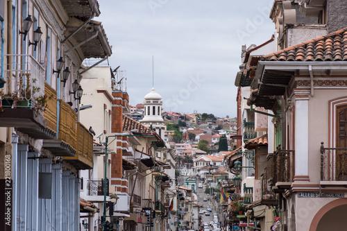 In de dag Zuid-Amerika land Ville de Cuenca, Équateur