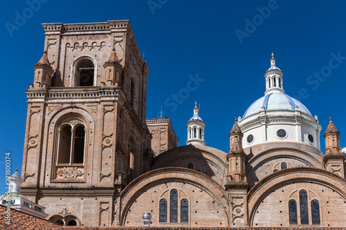 In de dag Zuid-Amerika land Cathédrale de Cuenca, Équateur