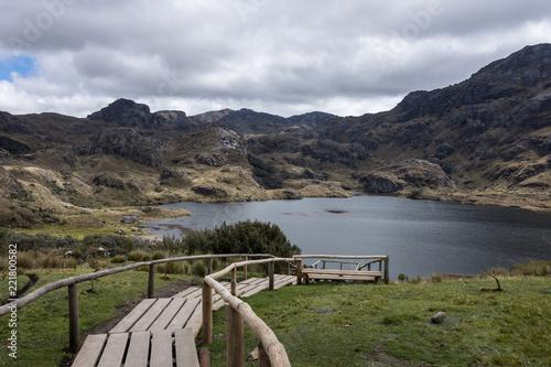 In de dag Zuid-Amerika land Parc national El Cajas, Cuenca, Équateur