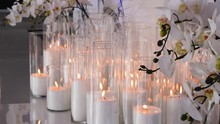 Decorative Candles Burn On The...