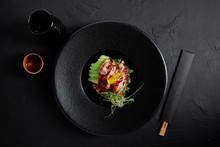 Top View Of Japanese Ceviche W...
