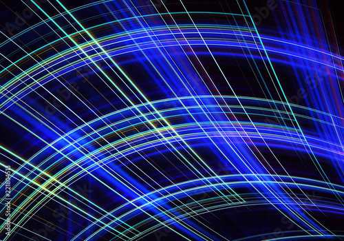 Staande foto Fractal waves Abstract color dynamic background with lighting effect. Fractal spiral. Fractal art