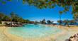 Brisbane, AUS - Sept 09, 2018: Settlement Cove Lagoon on sunny day, Redcliffe, Brisbane, Australia