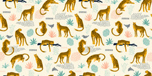 Vestor Seamless Pattern With L...