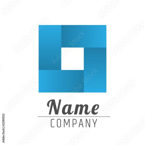Fotografia, Obraz  universal geometric logo in the form of a square.