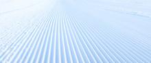 Close-up Groomed Snow At Ski R...