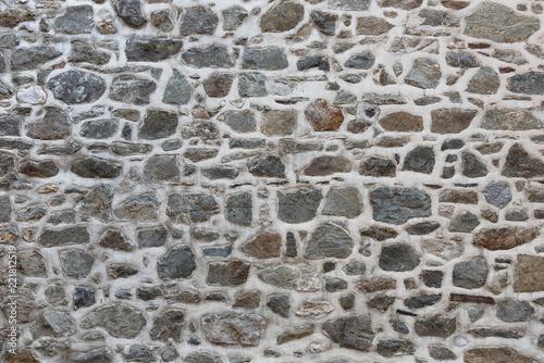 Grey stone wall with mortar Wallpaper Mural