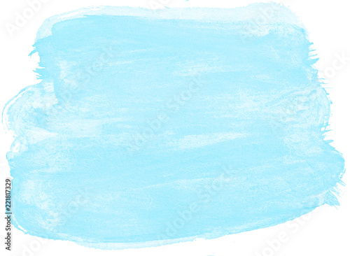 Pastel Light Blue Watercolor Abstract Background Spot