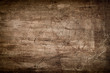 canvas print picture - Dark Brown Wood Texture with Scratches