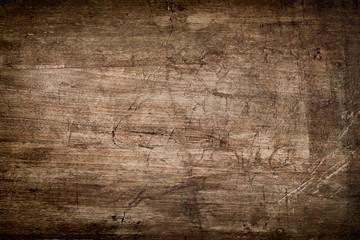 Fototapeta Dark Brown Wood Texture with Scratches
