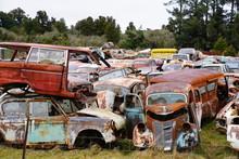 Schrottplatz Auto Oldtimer
