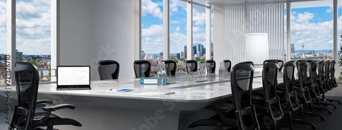 Fotografie, Obraz Konferenzraum mit Computer Monitor auf Tisch