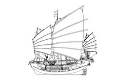 Sketch Of An Old Ship Vector