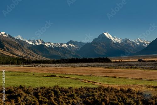 Aluminium Prints Dark grey Aoraki/Mount Cook National Park South Island of New Zealand