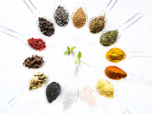 Various Spices Selection On Sp...