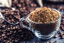 Granules Of Instant Coffee In ...