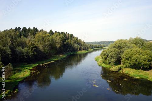 Deurstickers Rivier Moscow river
