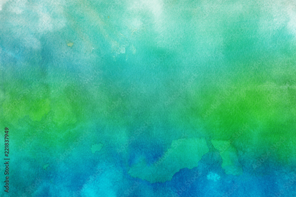 Fototapety, obrazy: Colorful watercolor paper textures on white background. Chaotic abstract organic design.