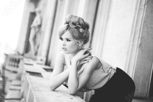Portrait of Beautiful Blond...