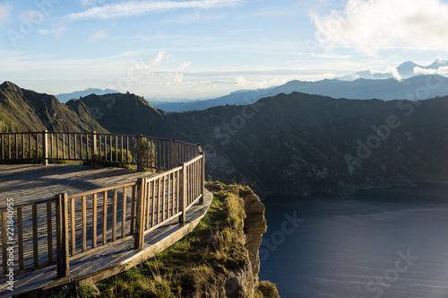 Keuken foto achterwand Zuid-Amerika land Mirador sur la Lagune de Quilotoa, Équateur