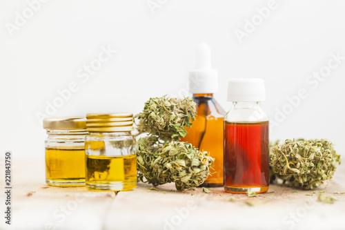 Photo cannabis cbd product oil