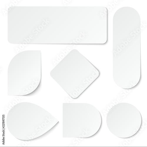 Fotografía  White paper stickers