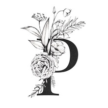 Graphic Floral Alphabet - Lett...