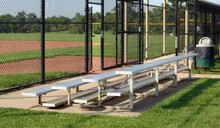 A View Of The Metal Bleachers ...