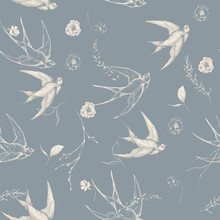 Graphic Floral Seamless Patter...