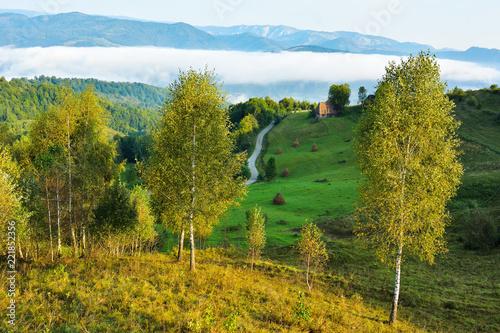 Poster Pool Landscape from Transylvania - Dumesti, Salciua - Romania