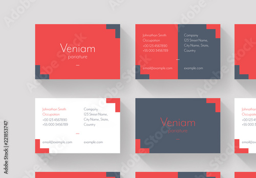 Red and Gray Business Card Layout Buy this stock template and