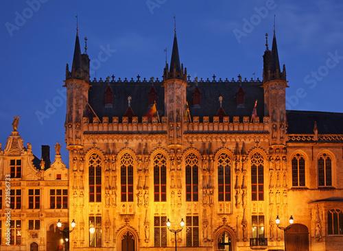 Burg square in Bruges. Flanders. Belgium