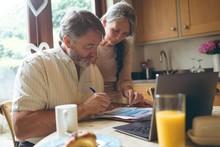 Senior Couple Checking Invoice
