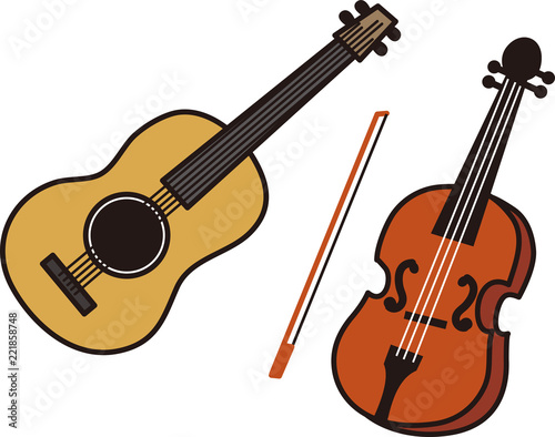 Foto  ギター&バイオリン