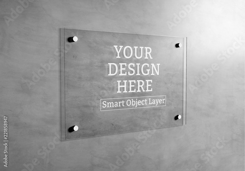 Plate Glass Signage Mockup Buy This Stock Template And