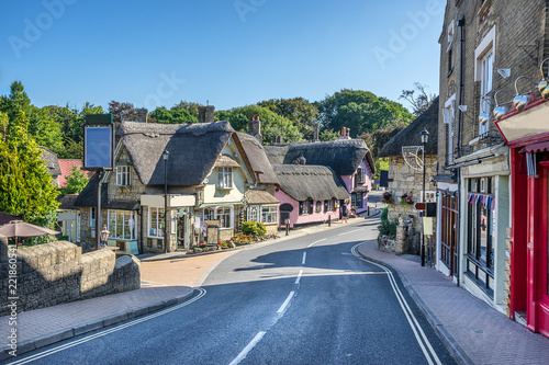 Canvas Print Shanklin on the Isle of Wight in England
