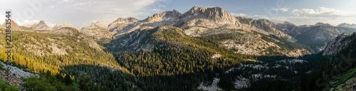 Fotografie, Obraz  Wide granite valleys at sunset in California's Sierra Nevada along the John Muir
