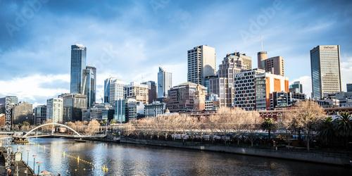 Tuinposter Oceanië Melbourne CBD Skyline