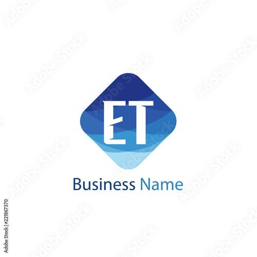 Photo  Initial Letter ET Logo Template Design