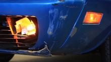 Close Up Of Corvette Wrecked I...