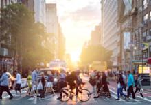 Man Riding Bike Crosses Inters...