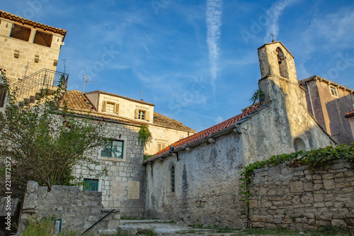 Fotografie, Obraz  Croatia, Korcula. House of Marco Polo and the Church of St. Peter