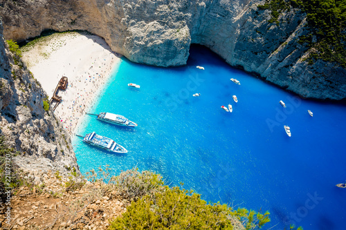 Valokuva  Navagio Beach with Ship Wreck, Zakynthos Island, Greece