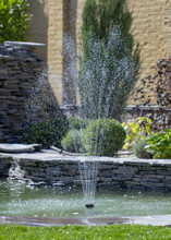 Fountain With Two Overflows, In Antique Style. Using Natural Materials Such As Wild Marble, Slate, Granite And Basalt