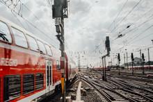 Nahverkehrszüge Am Frankfurter Bahnhof