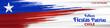 Chile Independence Day 18 September Celebration Card. Red and Blue flag stripe with star celebration background Illustration