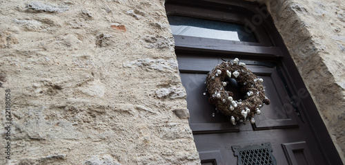Death Concept Faded Christmas Wreath On A House Door Buy This