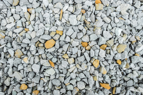 Fotografie, Obraz  Gravel with white and yellow pebbles/texture background