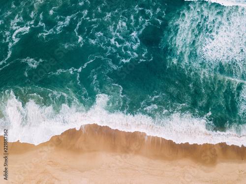Aerial view to Beach on the Atlantic Ocean near Seignosse (France) Wallpaper Mural