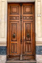 Wooden Entrance Door: Màlaga, Spain